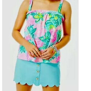 NWT Lilly Pulitzer Jia Top Pineapple Shake